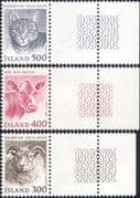 Iceland 1982 Domestic Animals  /  Nature  /  Cats  /  Cattle  /  Sheep  /  Farming 3v set (n34655)