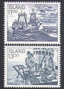 Iceland 1983 Fishing  /  Boats  /  Trawler  /  Fish  /  Industry  /  Commerce  /  Transport 2v (n34702)