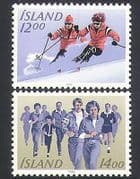 Iceland 1983 Outdoor Sports  /  Skiing  /  Athletics 2v set (n34704)