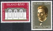 Iceland 1984 National Art Gallery 100th Anniversary/ People/ Buildings/ Architecture/ Heritage 2v set (n41821)