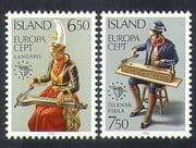 Iceland 1985 Europa  /  Music  /  Violin  /  Instruments  /  Musicians  /  Costumes 2v set (n38174)
