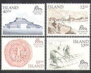 Iceland 1986 Reykjavik  /  Buildings  /  Architecture  /  Boats  /  Theatre  /  History 4v (n37573)