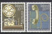 Iceland 1986 Telegraph  /  Telephones  /  Communications  /  Telecomms 2v set (n34504)