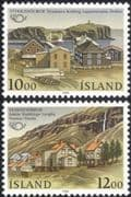 Iceland 1986 Waterfall/ Lighthouse/ Buildings/ Architecture/ Landscape/ Postal Co-operation 2v set (n34932)