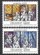 Iceland 1987 Europa  /  Art  /  Stained Glass  /  Religion  /  Dove  /  Peace 2v set (n34662)