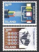 Iceland 1988 Europa  /  Communications  /  Telecomms  /  Computers  /  Map  /  Animation 2v (n34667)