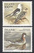 Iceland 1989 Buntings  /  Duck  /  Birds  /  Nature  /  Wildlife  /  Conservation 2v set (b1520)