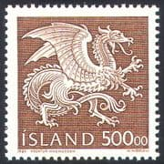 Iceland 1989 Guardian Spirits  /  Dragon  /  Mythical Beasts  /  Reptile  /  Animals 1v (n20266)