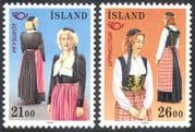 Iceland 1989 Traditional Costumes/ Clothes/ Textiles/ Nordic Postal Co-operation 2v set (n27454)