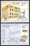Iceland 1990 Europa/ Post Offices/ Letter Scales/ Buildings/ Architecture/ Mail 2v set (n23554)
