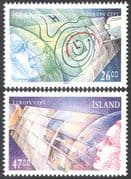 Iceland 1991 Europa/ Space/ Satellites/ Maps/ Weather/ Meteorology/ Communications 2v set n41357