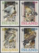 Iceland 1992 WWF/ Gyr Falcon/ Raptors/ Birds/ Nature/ Wildlife/ Conservation 4v set (s4710)