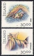 Iceland 1994 Sports  /  Swimming  /  Welghtlifting 2v (n28610)
