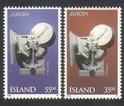 Iceland 1995 Europa  /  Peace  /  Freedom  /  Art  /  Sculpture  /  Statue 2v set (n36283)