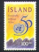 Iceland 1995 UN  /  United Nations  /  Peace  /  Welfare 1v (n34860)