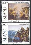 Iceland 1996 Art  /  Paintings  /  Artists  /  Fishing  /  Sailors  /  Boats 2v set (n34658)