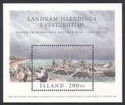 Iceland 2000 Stamp Day  /  Settlers  /  Boats  /  Lake  /  People  /  Transport 1v m  /  s (n33988)