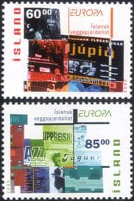 Iceland 2003 Europa/ Poster Art/ Design/ Theatre/ Cinema/ Music 2v set (is1039)