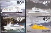Iceland 2003 Ferries/ Ships/ Boats/ Nautical/ Commerce/ Transport/ Map 4v set (is1041)