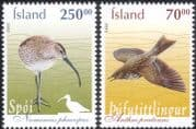Iceland 2003 Meadow Pipit/ Whimbrel/ Birds/ Nature/ Wildlife/ Conservation 2v set (s5453)
