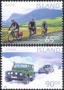 Iceland 2004 Europa/ Holidays/ Motors/ Cars/ Bikes/ Cycling/ Transport 2v set (n12343)