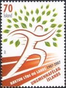 Iceland 2007 National Youth Organisation 100th/ Tree/ Animation/ Art/ People 1v (is1047)