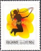 Iceland 2008 Youth Stamp/ Girl/ Skipping/ Children's Games 1v s/a (is1064)