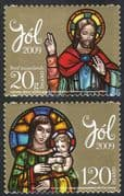 Iceland 2009 Christmas/ Greetings/ Madonna/ Child/ Art/ Paintings/ Artists 2v set s/a (n42334)