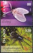 Iceland 2009 Moth Fly/ Spider/ Insects/ Nature/ Conservation 2v set (is1002)