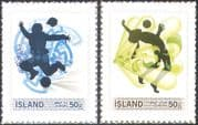 Iceland 2010 Football/ Sports/ Games/ Soccer 2v set s/a (n42314)
