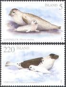 Iceland 2010 Harbour Seals /Harp Seals/ Animals/ Nature/ Wildlife 2v set (n41419)