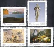 Iceland 2012 Art/ Paintings/ Artists/ Statue/ Sculpture/ People 4v set (n42401)