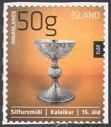 Iceland 2012 Icelandic Design/ Silver Chalice/ Art/ Sculpture/ History/ Heritage/ Precious Metals 1v s/a (n42505)