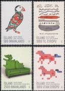Iceland 2013 Graphic Arts/ Design/ Puffin/ Ponies/ Food/ Furniture/ Animation 4v set (is1007)