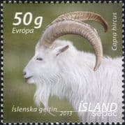 Iceland 2013 SEPAC/ Goat/ Farming/ Domestic Animals/ Nature/ Post/ Mail 1v (is1082)