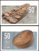 Iceland 2014 Europa/ Music/ Stone Harp/ Musical Instruments/ Musicians 2v set s/a (is1014)
