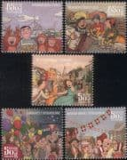 Iceland 2014 Festivals/ Music/ Dance/ Dancing/ Ships/ Boats/ Flags/ Fish/ Fishing 5v set (is1024)
