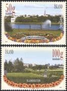 Iceland 2014 Parks/ Gardens/ Flowers/ Statue/ Trees/ Nature/ Buildings 2v set (is1016)