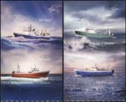 Iceland 2014 Trawlers/ Ships/ Boats/ Nautical/ Fishing/ Transport 4v s/a set (is1025)