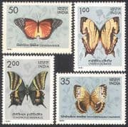 India 1981 Butterflies  /  Insects  /  Nature  /  Conservation  /  Butterfly 4v set (b4539)