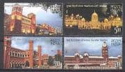 India 2009 Railway Stations/ Transport/ Trains/ Buildings/ Architecture 4v (n27063)