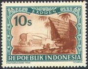 Indonesia 1949 Express Postage/ Trains/ Steam Engine/ Locomotive/ Railway/ Transport/ Buildings 1v (n42453)