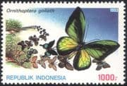 Indonesia 1993 Butterflies/ Insects/ Nature/ Conservation/ Butterfly 1v (n21942)