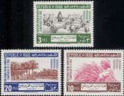 Iraq 1963  FAO/ Freedom From Hunger/ Food/ Sheep/ Wheat/ Date Palms/ Trees/ Farming  3v set (n30466)