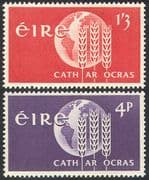 Ireland 1963 FAO/ FFH/ Freedom From Hunger/ Wheat/ Crops/ Food/ UN 2v set (n41306)