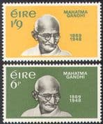 Ireland 1969 Mahatma Gandhi/ People/ Politics/ History 2v set (n41294)