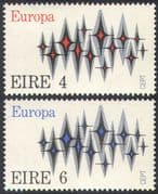 Ireland 1972 Europa/ CEPT/ Communications/ Animation 2v set (n41310)