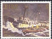 Ireland 1974 RNLI/ Lifeboat/ Boats/ Rescue/ Nautical/ Ships/ Transport/ Lifeboats/ Lightship/ Safety 1v (n24262)
