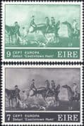 Ireland 1975 Europa/ Art/ Artists/ Horses/ Hunting/ Paintings/ Painters/ Nature 2v set (n14607e)