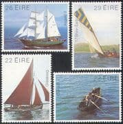 Ireland 1982 Irish Boats/ Ships/ Sail/ Sailing/ Nautical/ Transport 4v set (n41311)